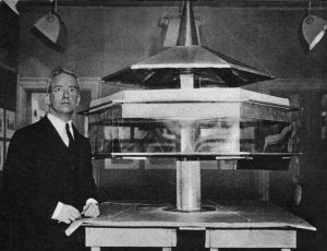 Fuller With The First Model Of Thedymaxion House 1927